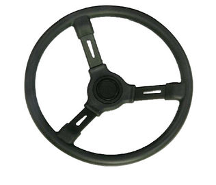 "Regular 3 Spoke Replacement Boat Steering Wheel Plastic Material 13 1/2"" Diameter"