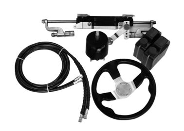 China Easy To Install Outboard Hydraulic Steering Kit 27 Cc/Rev Pump 141.1 Cc Cylinder Volume factory