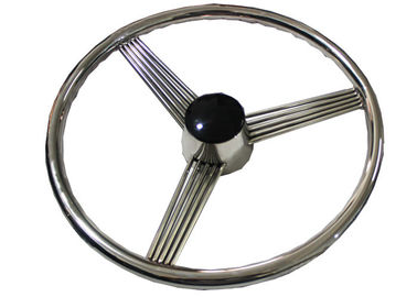 "China 13.5"" Boat Steering Wheel , Highly Polished Stainless Boat Steering Wheel factory"