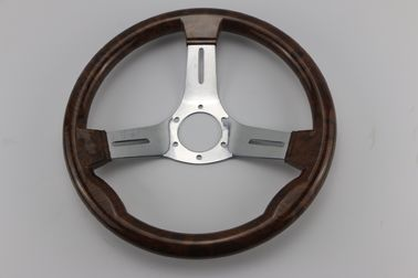 "Three Spoke Sailboat Steering Wheel 13 1/2"" Diameter Anodized Aluminum Alloy Material"